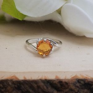 Jewelry - 925 Sterling Silver Mandarin Garnet Gemstone Ring